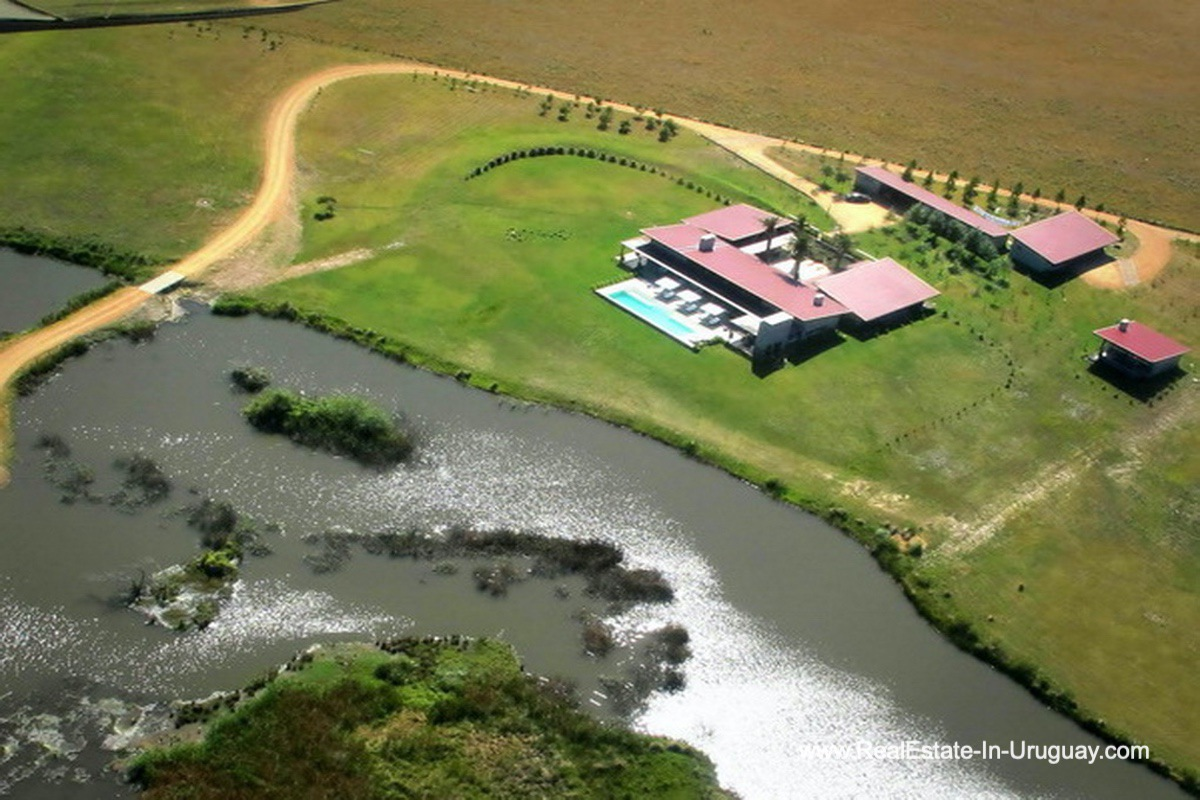Aerial View of Wonderful Ranch with a Vineyard behind La Barra and Manantiales