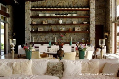 Dining of Wonderful Ranch with a Vineyard behind La Barra and Manantiales