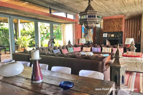 Living area of Incredible Large Estate behind La Barra and near the Golf Course