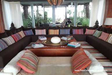 Living Room of Incredible Large Estate behind La Barra and near the Golf Course