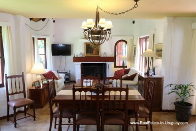 Dining Room of Well Maintained Quincho Home in the San Rafael Area