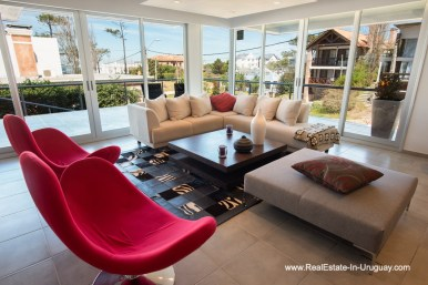Living Room of Well Built House in Montoya by La Barra