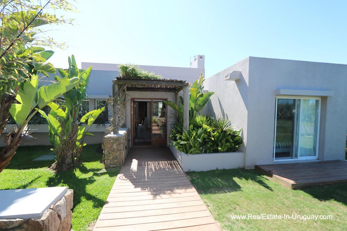 Front of Excellent Home in Pueblo Mio by the Golf Course La Barra
