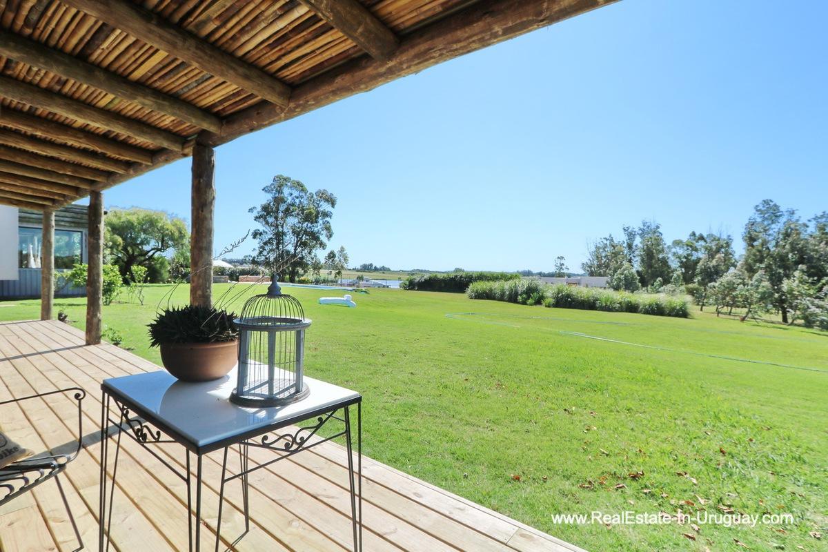 Terrace of Excellent Home in Pueblo Mio by the Golf Course La Barra