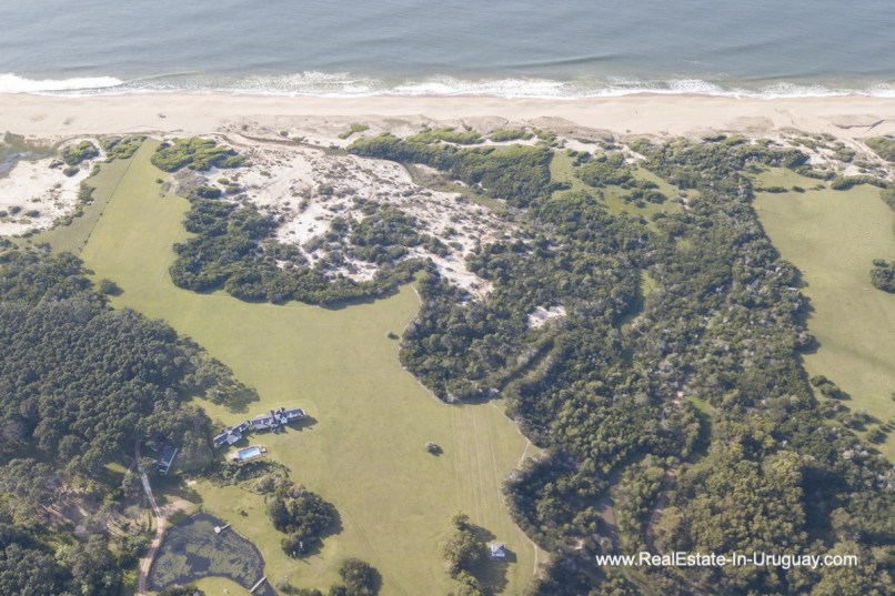 Aerial View of Spectacular Beachfront Property near Jose Ignacio