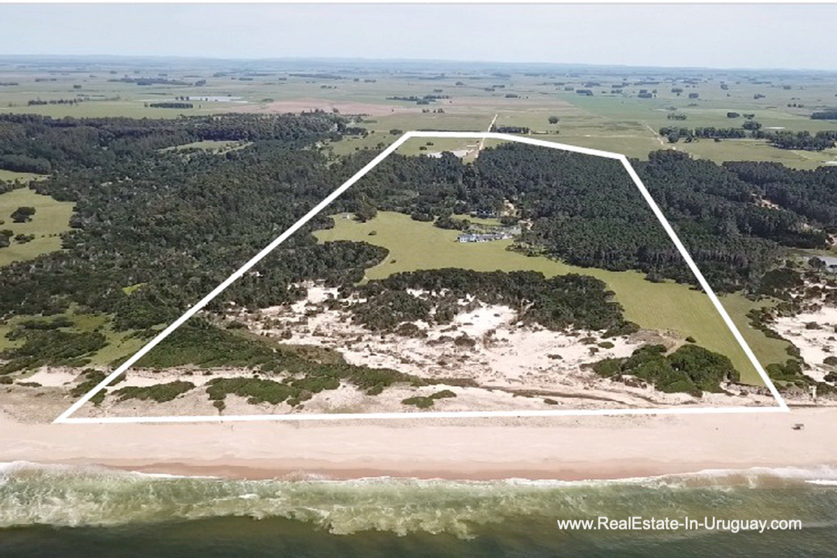 Property Lines of Spectacular Beachfront Property near Jose Ignacio
