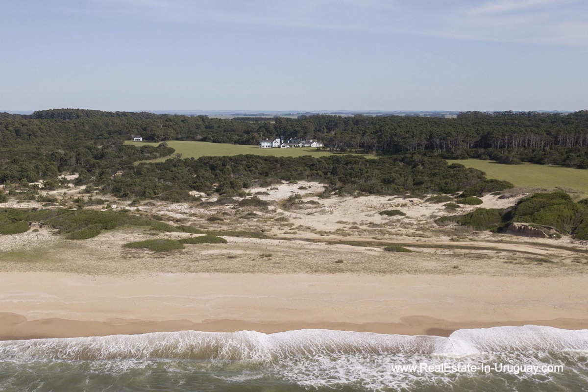 From shore to Spectacular Beachfront Property near Jose Ignacio