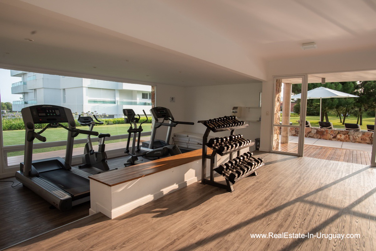 Gym of Spacious Apartment on the Brava in Punta del Este