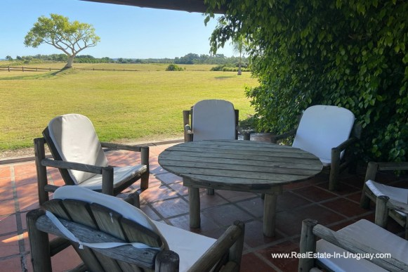 Patio of Ranch on 8 Hectares in Jose Ignacio