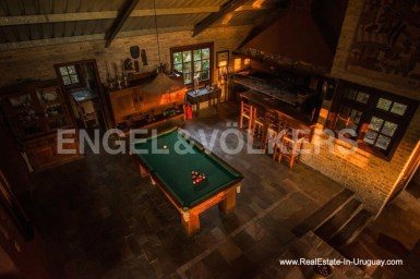 Billiard Room of Farm with Organic Garden near Wineries in Canelones
