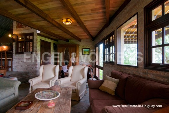Living room of Farm with Organic Garden near Wineries in Canelones