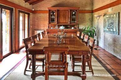 Dining Room of Estancia along the Jose Ignacio River