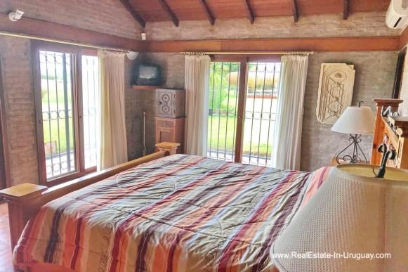 Bedroom of Estancia along the Jose Ignacio River