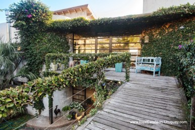 Balcony of House on a Double Lot with Sea Views in Punta Ballena