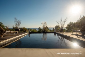 Pool of House on a Double Lot with Sea Views in Punta Ballena