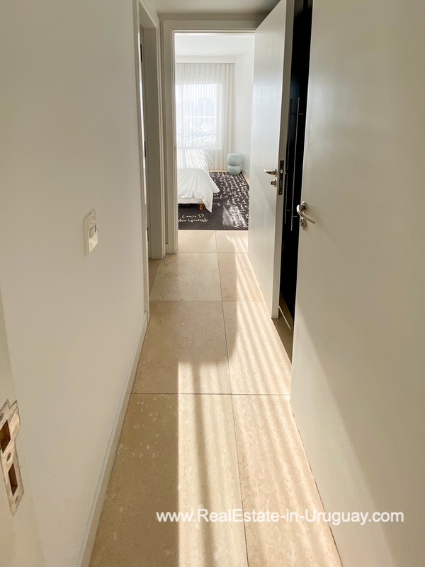 Hallway of YOO Apartment on a High Floor with Ocean Views in Punta del Este