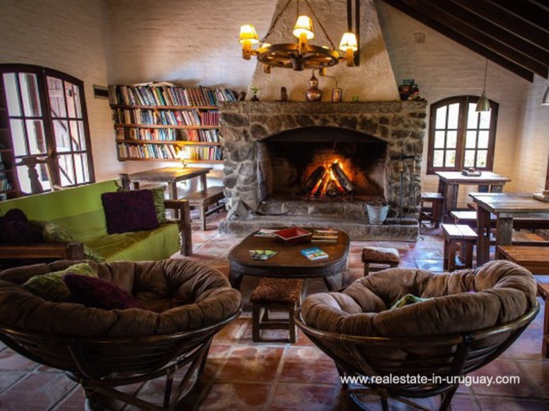 Living Room of Large Touristic Ranch in the Countryside of Uruguay