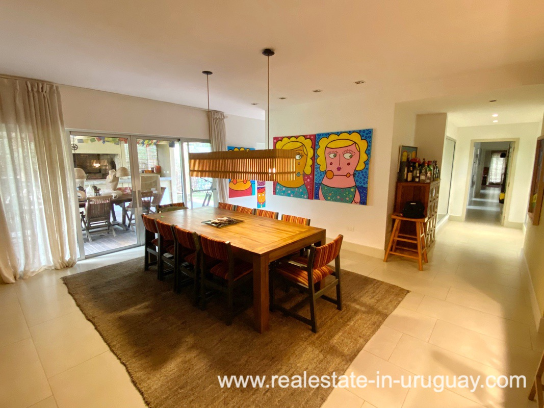 Dining of Home in the Gated Community La Arbolada in Punta del Este