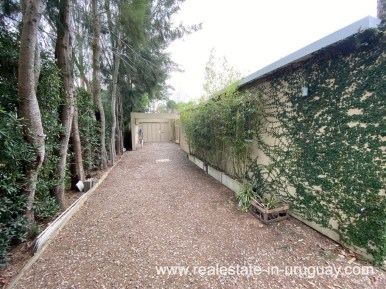 Driveway of Home in the Gated Community La Arbolada in Punta del Este