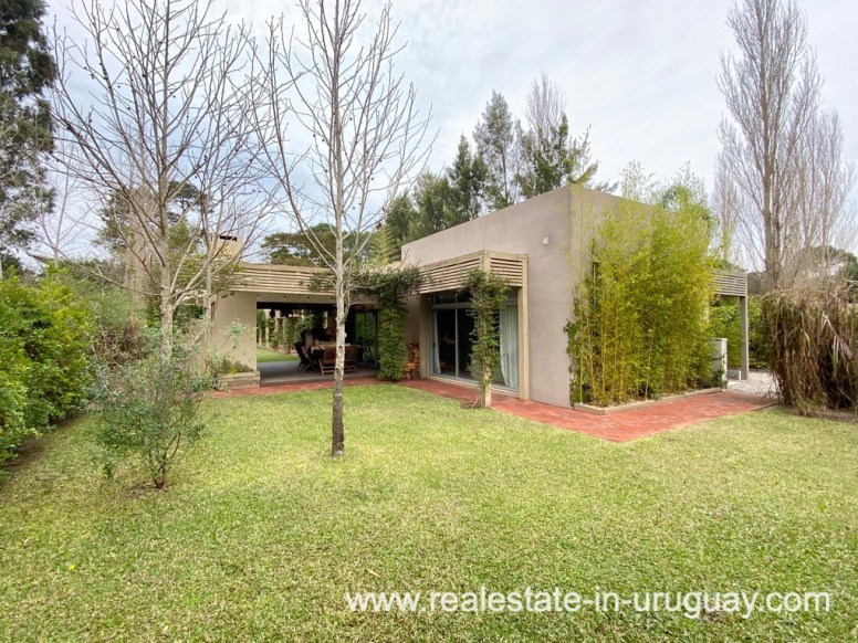 Garden of Home in the Gated Community La Arbolada in Punta del Este