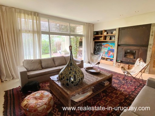 Living Area of Home in the Gated Community La Arbolada in Punta del Este