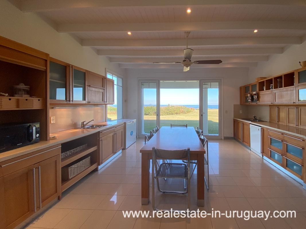 Kitchen of Large Oceanfront Villa in Punta Ballena