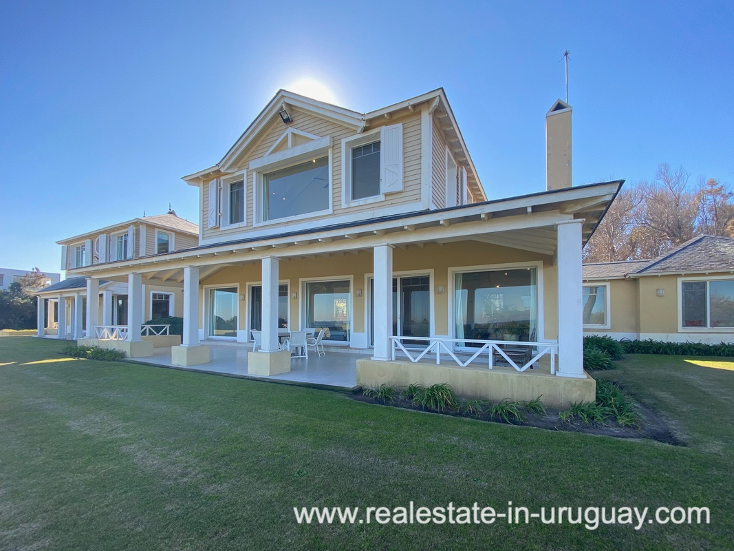 Backyard of Large Oceanfront Villa in Punta Ballena