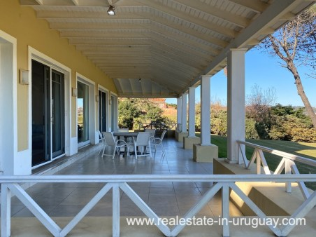 Terrace of Large Oceanfront Villa in Punta Ballena