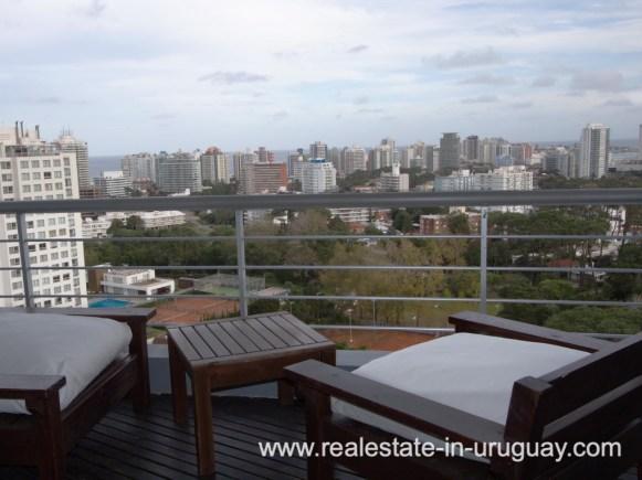 Balcony of Penthouse in Central Location in Punta del Este