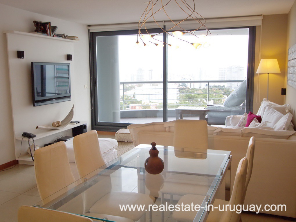 Living of Penthouse in Central Location in Punta del EstePenthouse in Central Location in Punta del Este