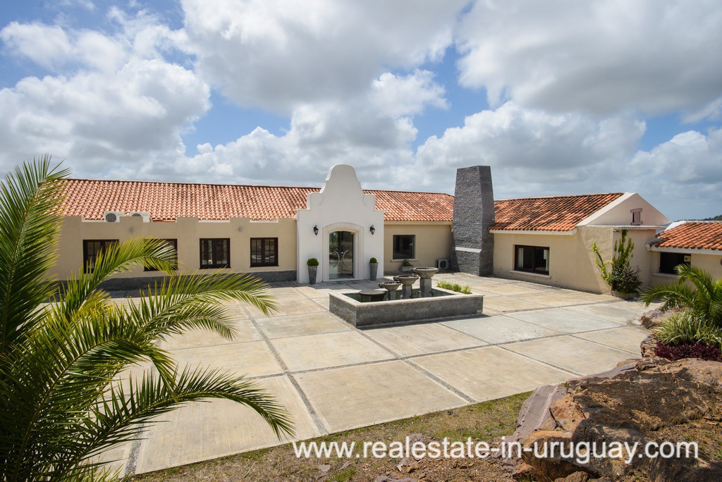 Entrance of Large House with Views to Laguna del Sauce by Punta del Este