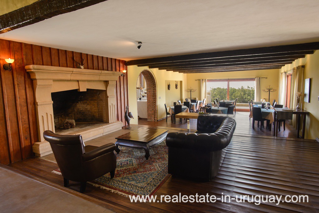 Living of Large House with Views to Laguna del Sauce by Punta del Este
