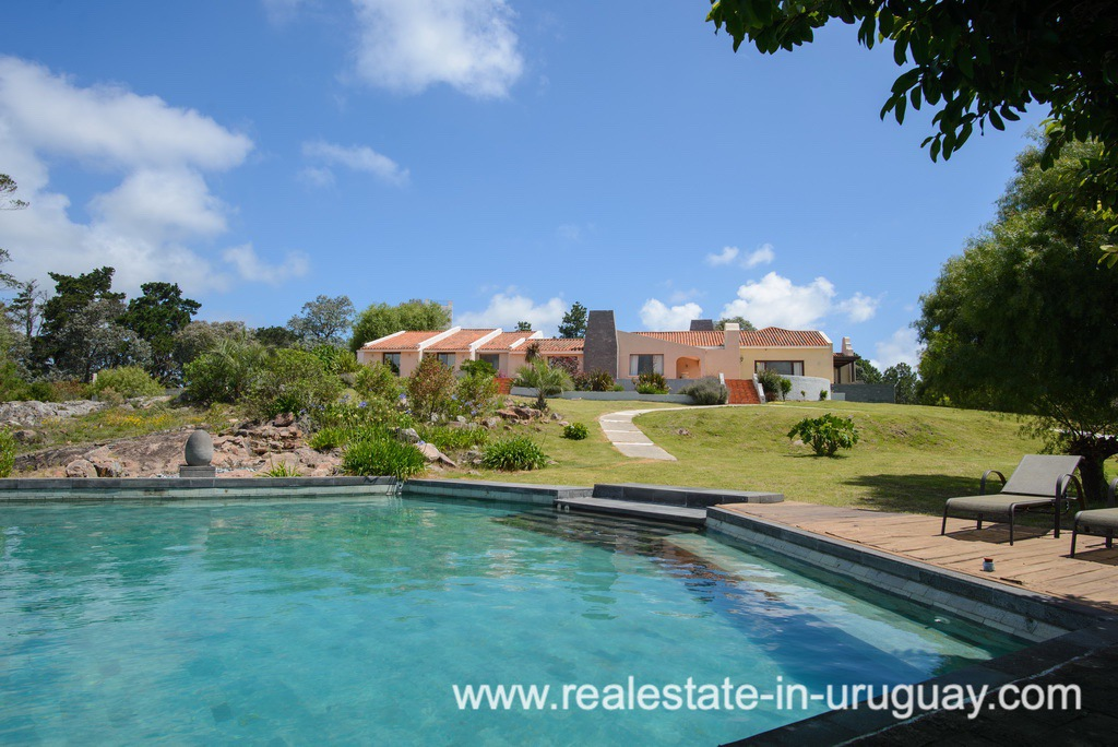Pool area of Large House with Views to Laguna del Sauce by Punta del Este