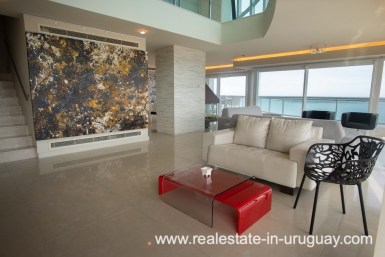 Sitting Area of Modern Large Penthouse on the Mansa in Punta del Este