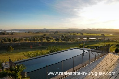 Poolviews of Spectacular Farm situated on a Hill by Laguna del Sauce