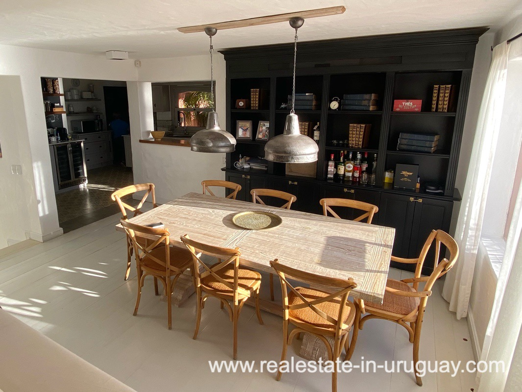 Dining of Spectacular Remodeled House in Punta Ballena