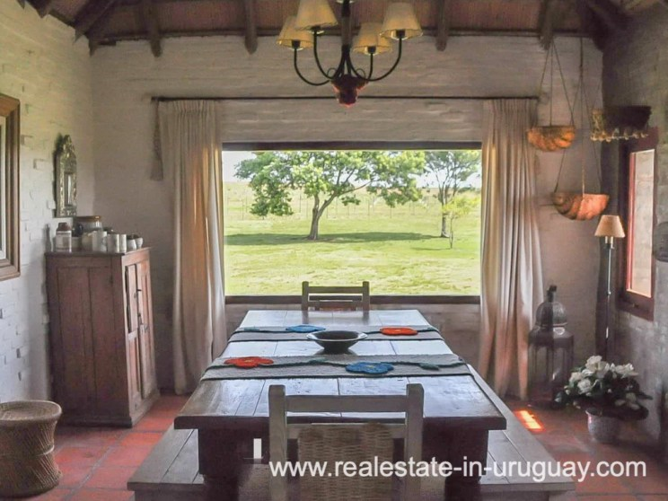 Dining room of Farm with 95 Hectares just 15 Minutes from Jose Ignacio
