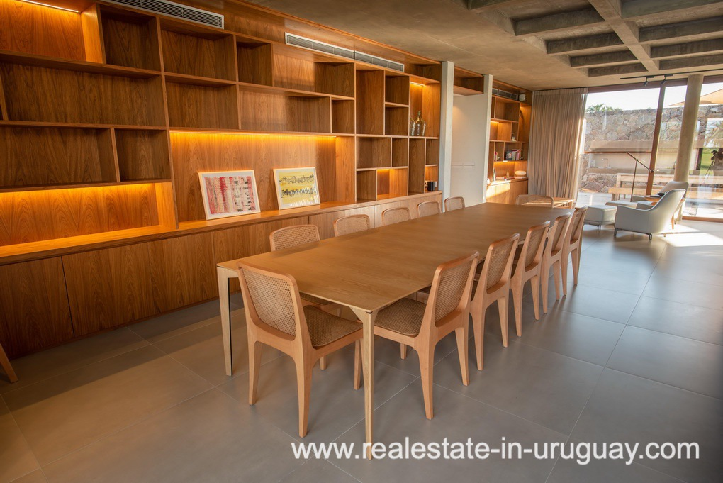 Library of Modern and Style combined with Country Views in Pueblo Mio by Manantiales