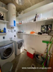 Laundry of Design Home in San Antonio near La Pedrera on the Beach
