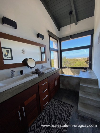 Master Bath of Design Home in San Antonio near La Pedrera on the Beach