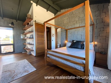 Master bedroom of Design Home in San Antonio near La Pedrera on the Beach