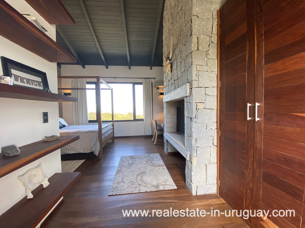 Master suite of Design Home in San Antonio near La Pedrera on the Beach