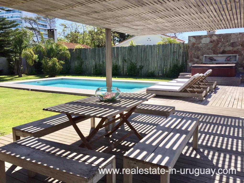Terrace of Home on the Mansa in Punta del Este