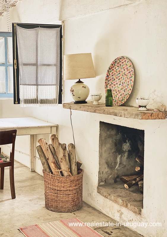 Fireplace of Cute Little House in Trendy Gourmet Town Garzon