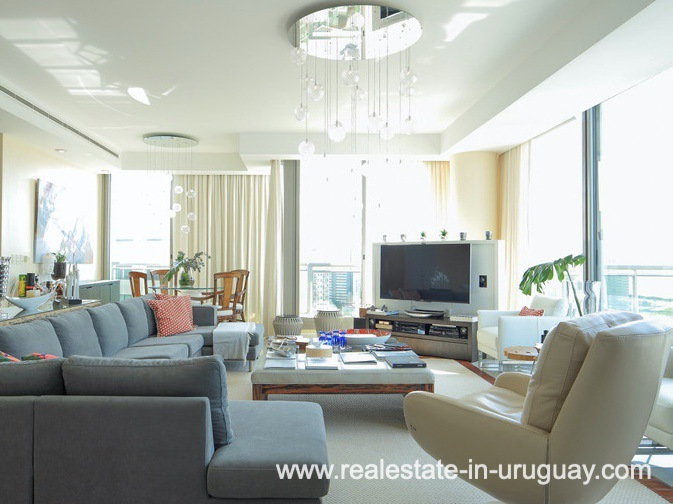 Living Area of Penthouse near the Peninsula in Punta del Este