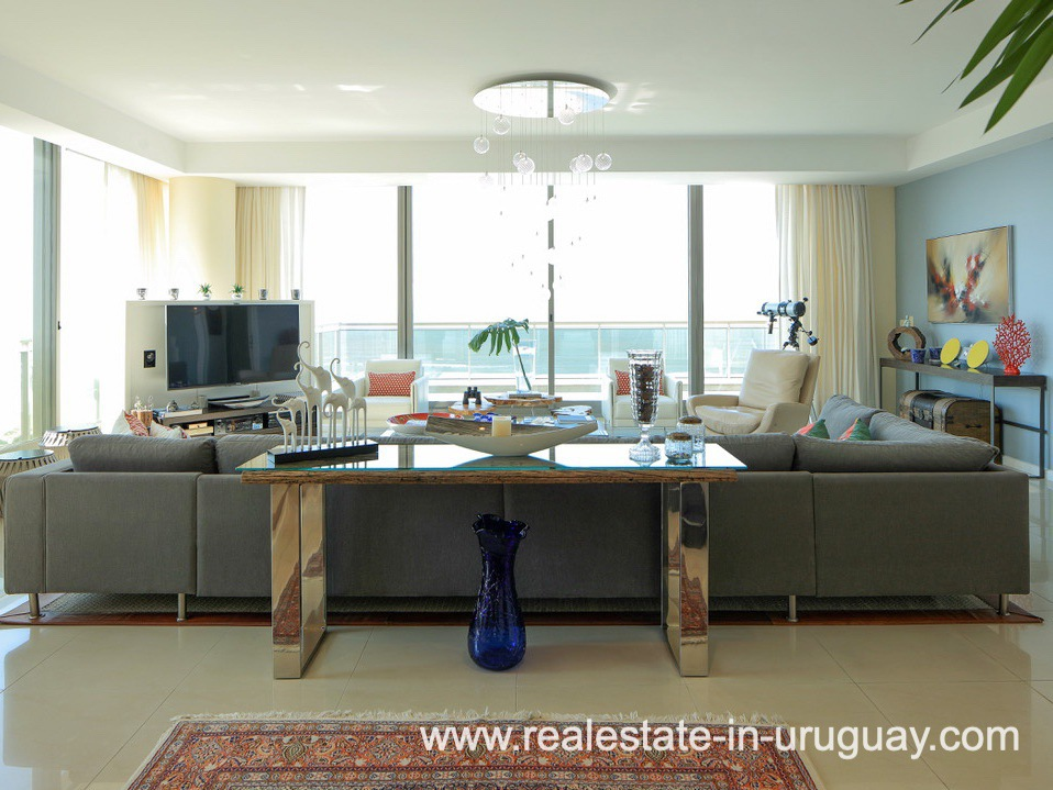 Living Room of Penthouse near the Peninsula in Punta del Este