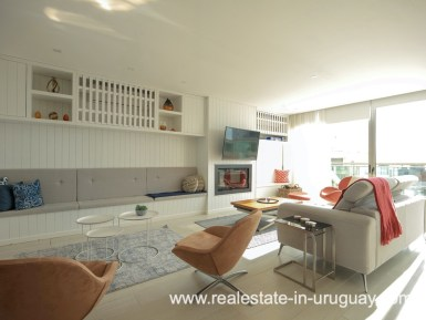 Lounge of Penthouse near the Peninsula in Punta del Este