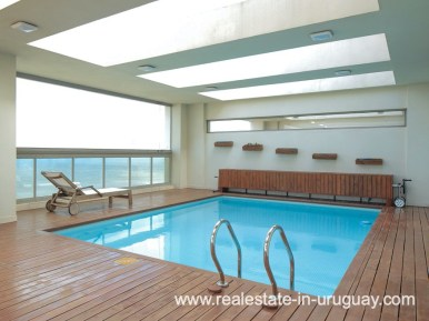 Pool and Deck of Penthouse near the Peninsula in Punta del Este