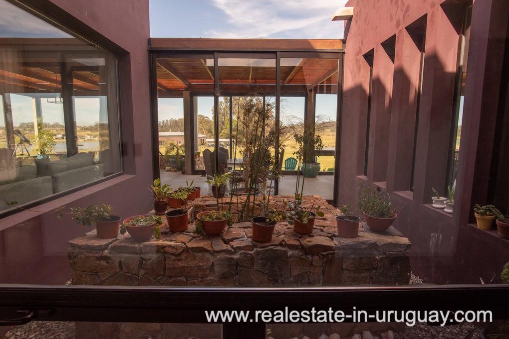 Atrium of Pueblo Mio by La Barra Golf