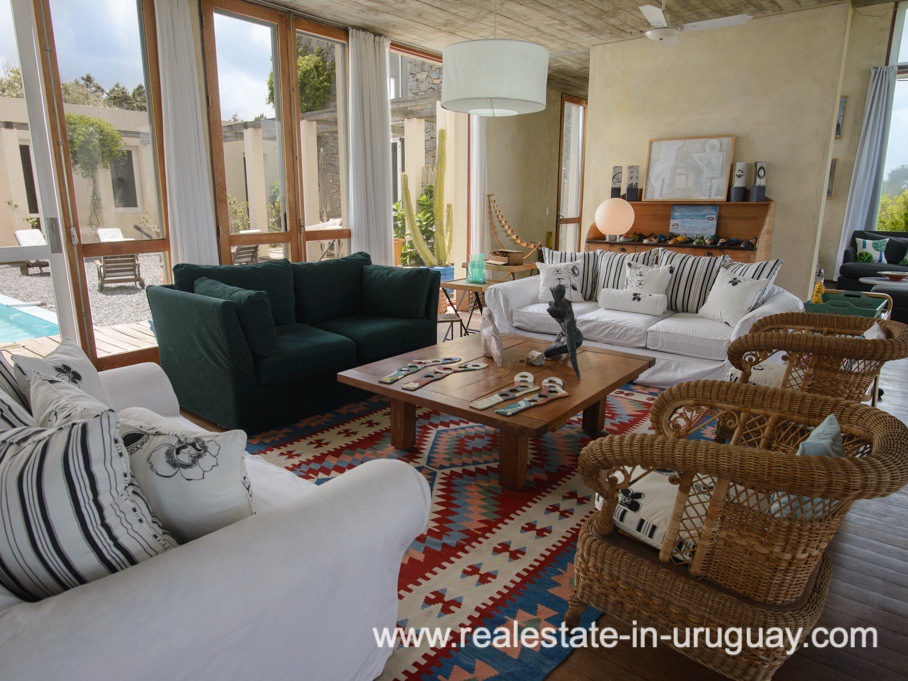 Living Room of Beach Property in La Carolina